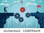business finance success... | Shutterstock .eps vector #1338596639