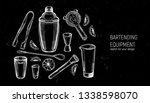 bartending equipment set....   Shutterstock .eps vector #1338598070