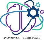 brain activity. cognitive... | Shutterstock .eps vector #1338610613