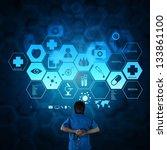 medicine doctor working with... | Shutterstock . vector #133861100