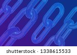 block chain. crypto currency.... | Shutterstock .eps vector #1338615533