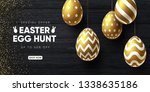 easter holiday sale background. ... | Shutterstock .eps vector #1338635186
