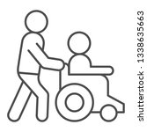 help disabled thin line icon.... | Shutterstock .eps vector #1338635663