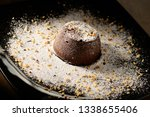 chocolate souffle home  baked... | Shutterstock . vector #1338655406