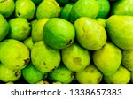 guajava on the counter. | Shutterstock . vector #1338657383