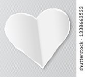 white paper heart shape with... | Shutterstock .eps vector #1338663533