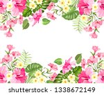 summer vacation card. tropical... | Shutterstock .eps vector #1338672149