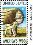 usa   circa 1985  a stamp... | Shutterstock . vector #133867250