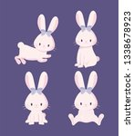 set of cute rabbits female of... | Shutterstock .eps vector #1338678923