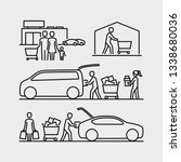 people shopping icons. person... | Shutterstock .eps vector #1338680036