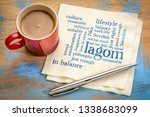 lagom  swedish concept of... | Shutterstock . vector #1338683099