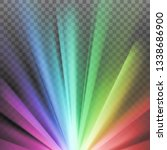 rainbow colored rays with color ... | Shutterstock .eps vector #1338686900