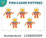 find two same pictures kids... | Shutterstock .eps vector #1338690509