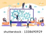business people and engineers... | Shutterstock .eps vector #1338690929