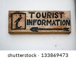 Wooden Sign Of Tourist...