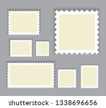 postage stamps set isolated on... | Shutterstock .eps vector #1338696656