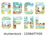 decorative font to design a...   Shutterstock .eps vector #1338697430