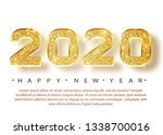 2020 happy new year. gold... | Shutterstock .eps vector #1338700016