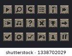 vector set of grey stone...