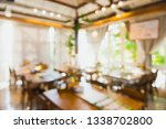blur coffee shop or cafe... | Shutterstock . vector #1338702800