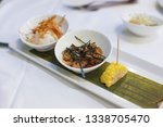 cevishes fresh raw seafood... | Shutterstock . vector #1338705470