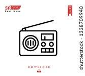 outline radio icon. radio icon...