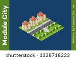 isometric 3d trees forest... | Shutterstock . vector #1338718223
