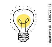 light bulb line hand drawing... | Shutterstock .eps vector #1338723446