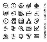 business line icons pack | Shutterstock .eps vector #1338725876