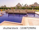 swimming pool with cheops...   Shutterstock . vector #1338729896