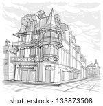 architectural sketch | Shutterstock .eps vector #133873508