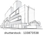architectural sketch | Shutterstock .eps vector #133873538