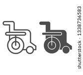 disabled chair line and glyph...   Shutterstock .eps vector #1338736583
