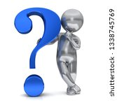 question mark 3d blue... | Shutterstock . vector #1338745769