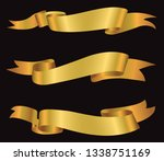 vector golden ribbons.ribbon... | Shutterstock .eps vector #1338751169