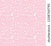 easter festive seamless pattern.... | Shutterstock .eps vector #1338769790