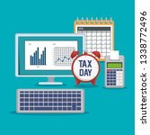 business statistics bar with... | Shutterstock .eps vector #1338772496
