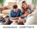 family spending free time at... | Shutterstock . vector #1338772673
