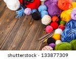 Set Of Colorful Ball Of Yarn...