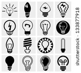 light bulb vector icon set. | Shutterstock .eps vector #133877918