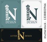 elegant letter n. graceful...   Shutterstock .eps vector #1338803966