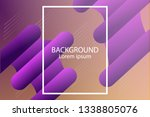 abstract wavy geometric... | Shutterstock .eps vector #1338805076