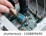 hand of professional repairman... | Shutterstock . vector #1338809690
