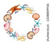 underwater world illustration... | Shutterstock . vector #1338809936