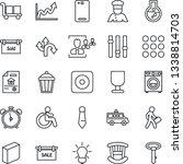 thin line icon set   alarm... | Shutterstock .eps vector #1338814703