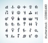 set of business concept icons | Shutterstock .eps vector #133881680