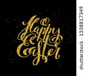 happy easter banner with... | Shutterstock .eps vector #1338817349