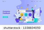 customer feedback  user review  ... | Shutterstock .eps vector #1338834050