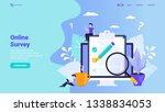 online survey  user feedback ... | Shutterstock .eps vector #1338834053