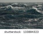 storm waves. pacific ocean   Shutterstock . vector #133884323